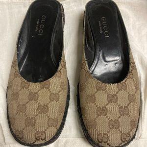 Gucci Vintage Espadrille Mules size 7